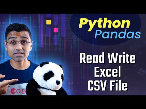 Python Pandas Tutorial 4: Read Write Excel CSV File - YouTube