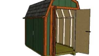 6x8 Barn Plans, Gambrel Shed Plans, Small Barn Plans