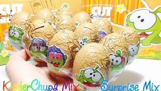 АМ НЯМ 2 Шоколадные Сюрпризы Cut the Rope НОВАЯ СЕРИЯ 2016 - OM NOM chocolate surprise eggs opening