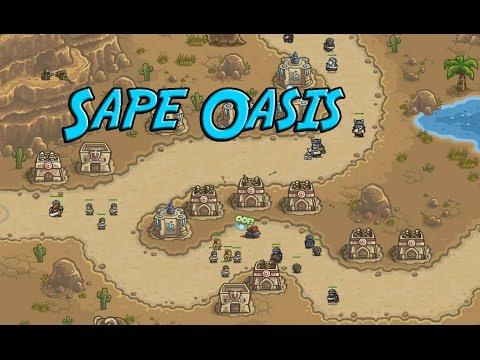 Kingdom Rush Frontiers - Sape Oasis - Veteran 3 Stars |