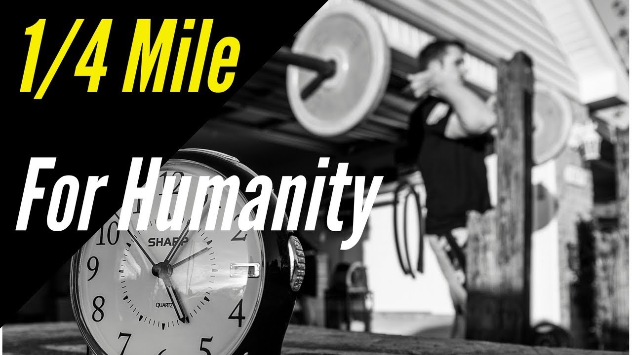 Mile for humanity garage gym workout youtube