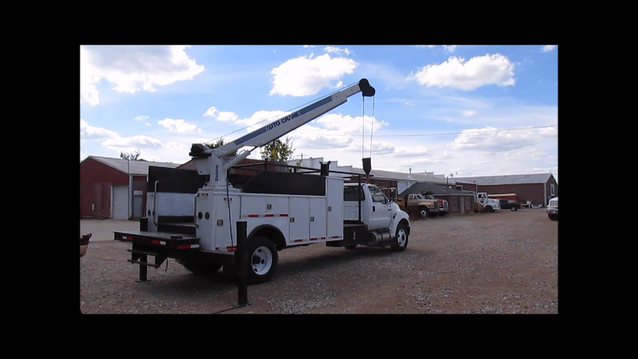 2004 Ford F650 Super Duty Xl Service Truck With Crane For