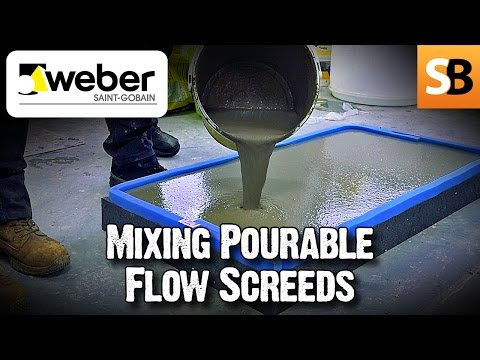 Are mix-onsite bagged flow screeds any good? We visit Weber