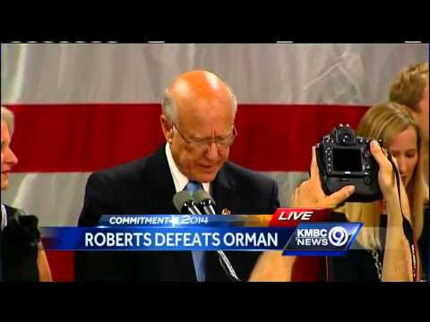 Watch: Pat Roberts victory speech