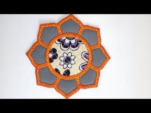 8 Petal Flower Coaster Freebie - By Kreative Kiwi