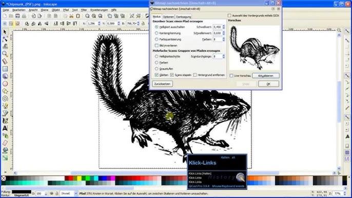 Inkscape How To Pixelgrafik Zu Dxf Konvertieren Youtube