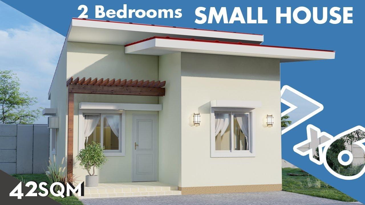 Small House 150k Budget 7 X 6 Meters In Mediterranean Style Youtube Small House Small House Design Plans Model House Plan