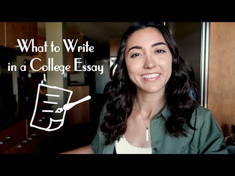 What To Write In A College Essay
