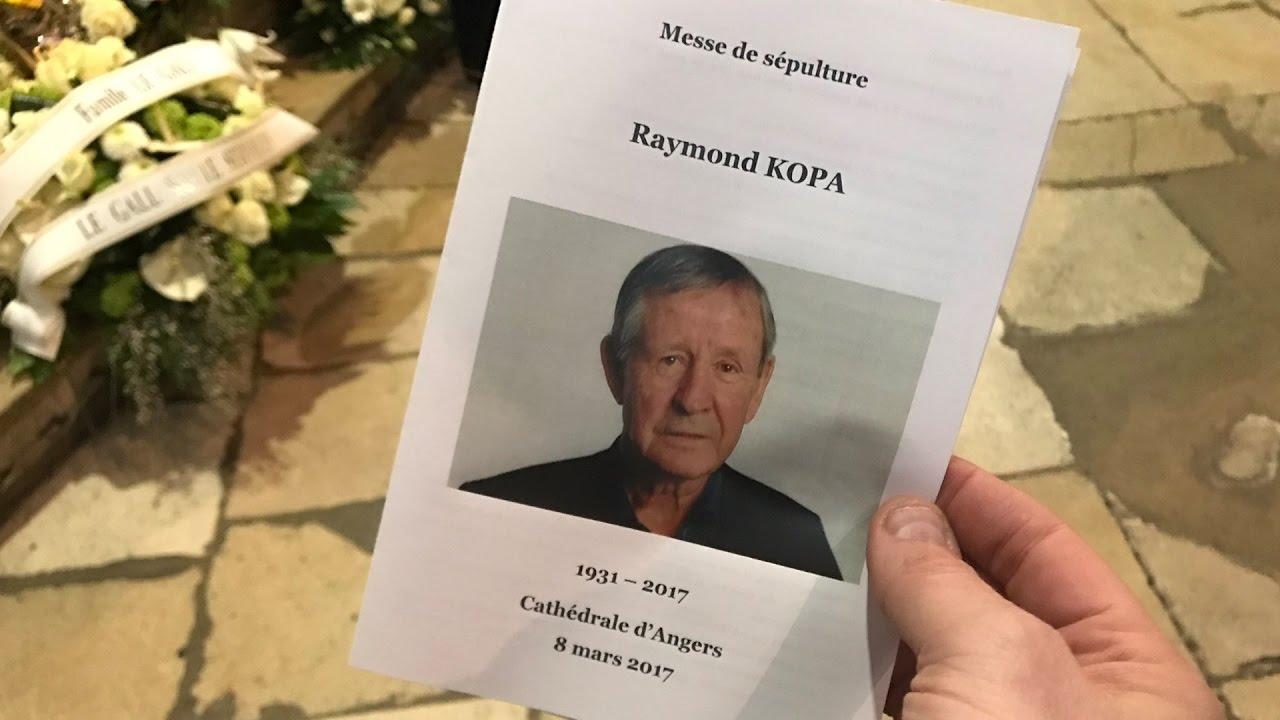Les obs¨ques de Raymond Kopa  la cathédrale d Angers