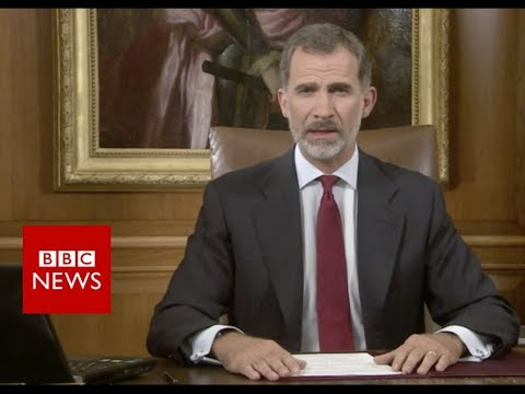 Spanish King: Catalan society is fractured - BBC News