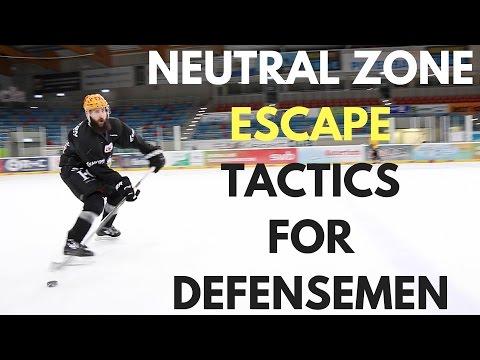 MHH Hockey Tutorials - Neutral Zone Escape Tactics For Defensemen