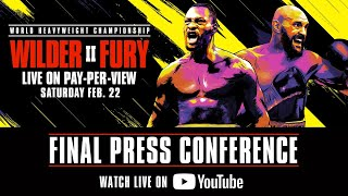 Wilder vs Fury 2 Final Press Conference | Watch Live