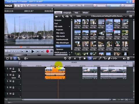 Tutorial: MAGIX Video deluxe 16 - Knip en fade (NL)