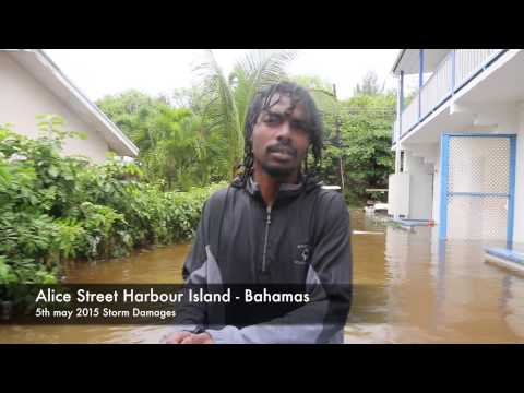 5th may 2015 Storm Damages in Harbour Island - Bahamas
