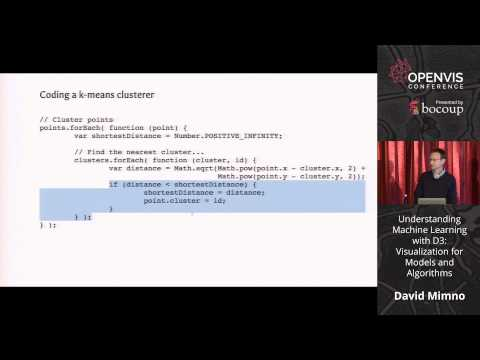David Mimno - Understanding Machine Learning with D3: Visual