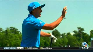 Rickie Fowler dead-tops tee shot at Pro-Am