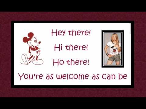 Hilary Duff - Mickey Mouse March [On Screen Lyrics w/ Pics]