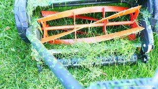 Reel mower - Cylinder Lawnmower - Gardena 400 - practical test - engisch