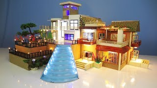 2 DIY Miniature Mansion House with LED Light compilation ~ Living room ~ Kitchen room ~ Bed room etc