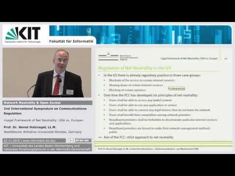 Legal Framework of Net Neutrality: USA vs. Europe