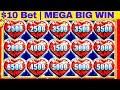 🌟FULL SCREEN🌟  Lock It Link Slot Machine Massive Win w/ $10 Max Bet | Better Than Handpay Jackpot