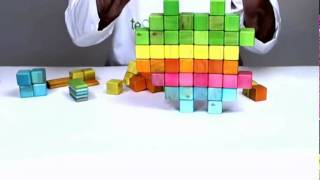 Magnetic Toys From Tegu - Building The Macintosh Apple Logo