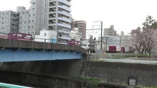 JR貨物・EF65形境川通過(Japan Freight Railway)