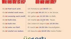 Almanca saatler UM WIE VIEL UHR konu anlatımı