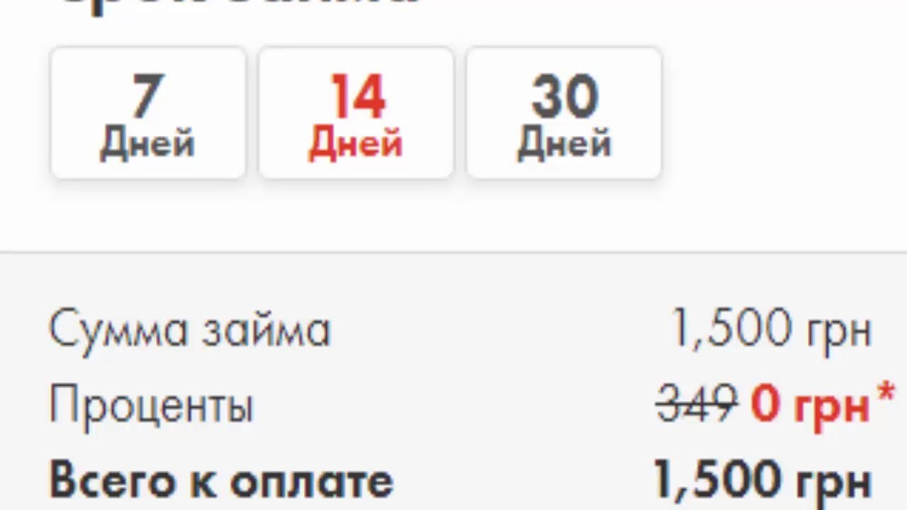 Взять кредит без процентов украина
