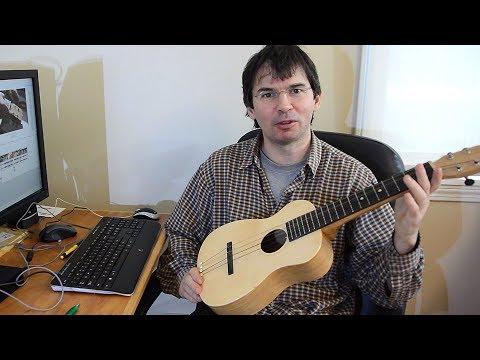 Unorthodox ukulele build, start to finish.
