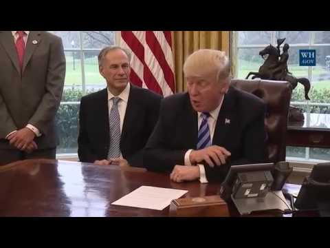 President Trump Meets with Charter CEO Thomas Rutledge and Texas Governor Greg Abbott 3/24