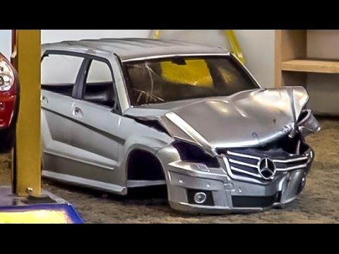 RC car junkyard with car shredder! Amazing R/C stuff from Friedrichshafen 2014