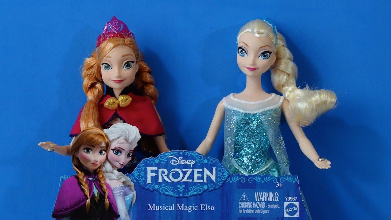 Disney Frozen Anna Y Elsa Música Mágica Juguetes De Frozen Youtube