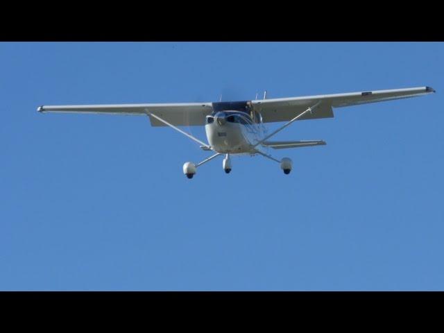Landing at 8,500 ft Density Altitude - NorCal - C182 Skylane - California Mountain Flying