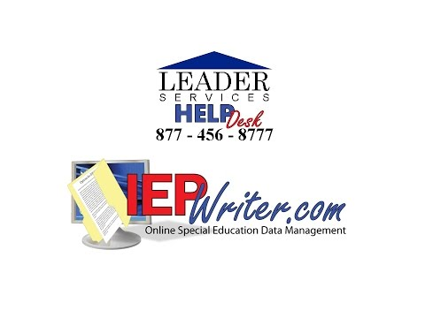 IEPWriter Administrator Complete Training Part 1 of 2