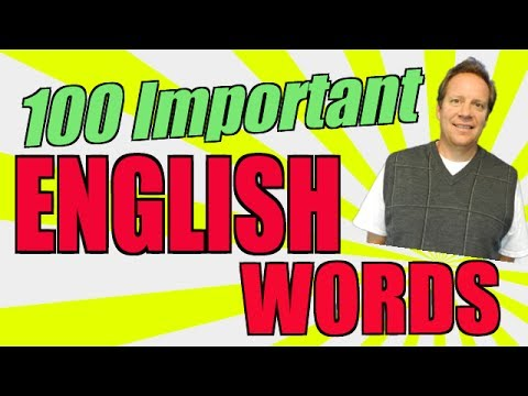 Basic English Speaking: Learn the 100 Most Important English Words and Pronunciation