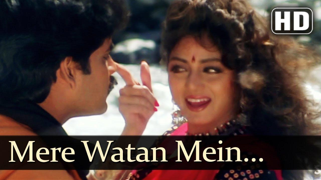 Mere Watan Mein Hd Khuda Gawah Songs Amitabh Bachchan Sridevi Suresh Wadkar Alka Yagnik Youtube