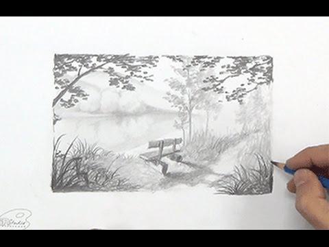 Wip Desenhando Uma Linda Paisagem A Lapis Curso De Desenho