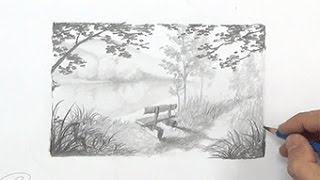 WIP - Desenhando uma Linda Paisagem a Lápis - Curso de Desenho Presencial com a IPStudio