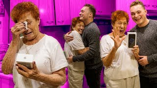 SURPRISING MY GRANDMOM WITH A BRAND NEW iPHONE! *EMOTIONAL*