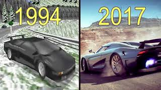 Evolution of Need for Speed Games 1994-2017