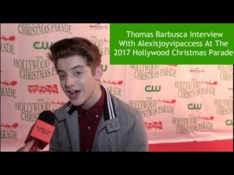 The Mick's Thomas Barbusca  With Alexisjoyvipaccess At The 2017 Hollywood Christmas Parade