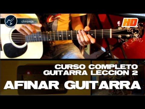 Cómo Afinar Guitarra Acústica Para Principiantes (HD) LECCIÓN 2 Curso de Guitarra - Christianvib