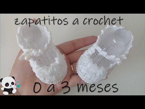 9cm Zapatitos Crochet Bebe Modelo Youtube Sonia A Para qzUpMVS
