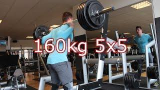 Squats 160kg 5x5