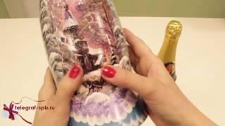Подарочный деревянный футляр под шампанское - Пейзаж(, 2016-12-10T12:29:57.000Z)