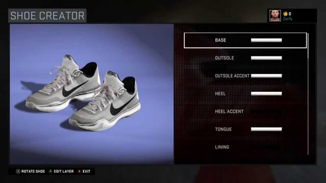 NBA 2K16 Shoe Creator - Nike Kobe 10