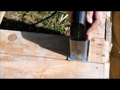 Instructions pour construire une niche avec palettes étape par étape