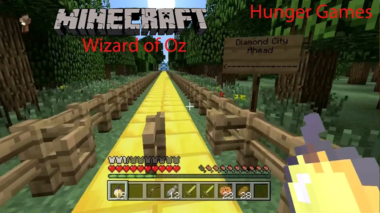 Minecraft Xbox 360 The Hunger Games Wizard Of Oz YouTube
