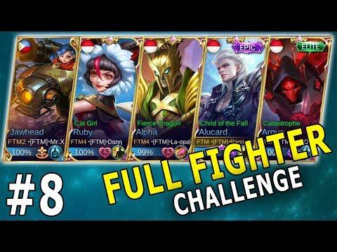 NGAKAK! NEW META FULL FIGHTER - Mobile Legends Part 8